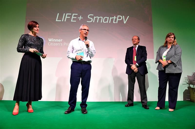 SmartPV winning the LIFE Citizen's Prize in 2019