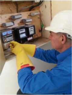 Installation of a smart meter at a participant's home
